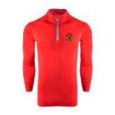 Under Armour Red Tech 1/4 Zip Performance Shirt-Crest