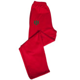 Champion PowerBlend Red Fleece Open Bottom Pant-Interlocking Greek Letters