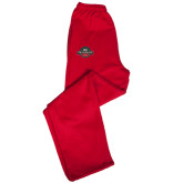 Champion PowerBlend Red Fleece Open Bottom Pant-Official Logo