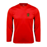 Syntrel Performance Red Longsleeve Shirt-Crest