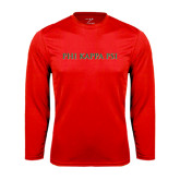 Syntrel Performance Red Longsleeve Shirt-PHI KAPPA PSI