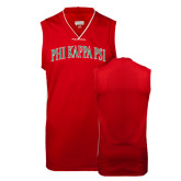 Replica Red Adult Basketball Jersey-Arched Phi Kappa Psi