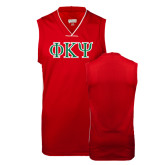 Replica Red Adult Basketball Jersey-Greek Letters