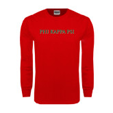 Red Long Sleeve T Shirt-PHI KAPPA PSI