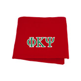 Red Sweatshirt Blanket-Greek Letters
