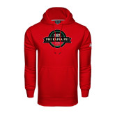 Under Armour Red Performance Sweats Team Hoodie-Official Logo