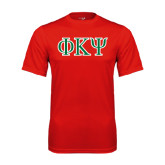 Performance Red Tee-Greek Letters