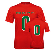 Performance Red Tee-PHI KAPPA PSI, Personalized w/ Number
