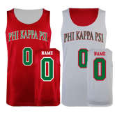 Red/White Reversible Tank-Arched Phi Kappa Psi, Personalized w/ Name and Number