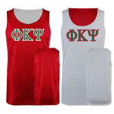 Red/White Reversible Tank-Greek Letters