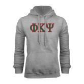 Grey Fleece Hoodie-Greek Letters