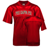Replica Red Adult Football Jersey-Arched Phi Kappa Psi