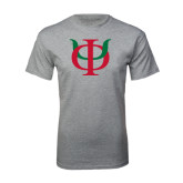 Grey T Shirt-Interlocking Greek Letters