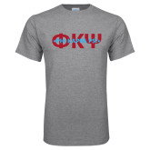 Grey T Shirt-Phi Psi Patriotic