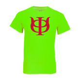 Neon Green T Shirt-Interlocking Greek Letters