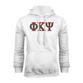White Fleece Hoodie-Greek Letters