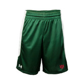 Under Armour Dark Green Fearless Short-Interlocking Greek Letters