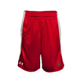 Under Armour Red Fearless Short-Interlocking Greek Letters
