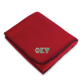 Red Arctic Fleece Blanket-Greek Letters