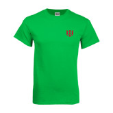 Kelly Green T Shirt-Interlocking Greek Letters