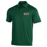 Under Armour Dark Green Performance Polo-Greek Letters