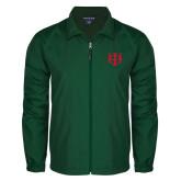 Full Zip Dark Green Wind Jacket-Interlocking Greek Letters