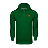 Under Armour Dark Green Performance Sweats Team Hoodie-Crest