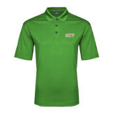 Kelly Green Performance Fine Jacquard Polo-Greek Letters