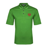 Kelly Green Performance Fine Jacquard Polo-Interlocking Greek Letters