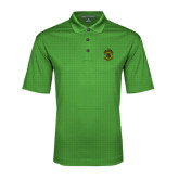 Kelly Green Performance Fine Jacquard Polo-Crest
