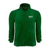 Fleece Full Zip Dark Green Jacket-Greek Letters