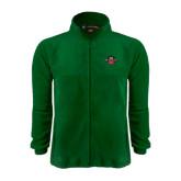 Fleece Full Zip Dark Green Jacket-Official Logo