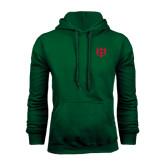 Dark Green Fleece Hood-Interlocking Greek Letters