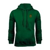 Dark Green Fleece Hood-Crest