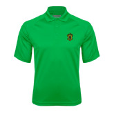 Kelly Green Textured Saddle Shoulder Polo-Crest