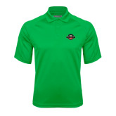 Kelly Green Textured Saddle Shoulder Polo-Official Logo