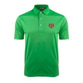 Kelly Green Dry Mesh Polo-Interlocking Greek Letters