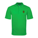 Kelly Green Mini Stripe Polo-Crest
