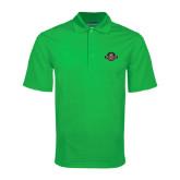 Kelly Green Mini Stripe Polo-Official Logo