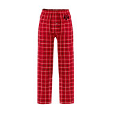 Red/Black Flannel Pajama Pant-Interlocking Greek Letters