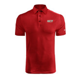 Under Armour Red coldblack Embossed Polo-Greek Letters