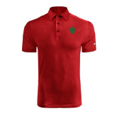 Under Armour Red coldblack Embossed Polo-Interlocking Greek Letters