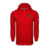 Under Armour Red Performance Sweats Team Hoodie-Interlocking Greek Letters