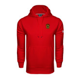 Under Armour Red Performance Sweats Team Hoodie-Crest