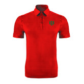 Red Horizontal Textured Polo-Interlocking Greek Letters