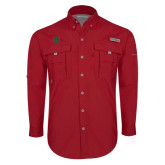 Columbia Bahama II Red Long Sleeve Shirt-Interlocking Greek Letters