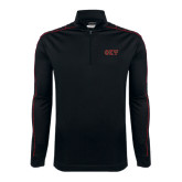 Nike Golf Dri Fit 1/2 Zip Black/Red Cover Up-Greek Letters