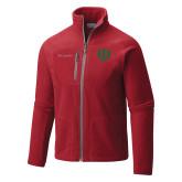 Columbia Full Zip Red Fleece Jacket-Interlocking Greek Letters