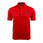 Red Dry Mesh Polo-Interlocking Greek Letters