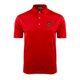 Red Dry Mesh Polo-Crest